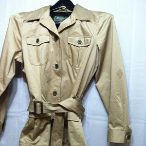 NEW Eddie Bauer Small Trench Coat Size Large